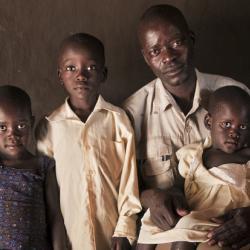 Valente Inziku, whose wife Jennifer died in childbirth in Arua, Uganda (photography: Tadej Znidarcic)