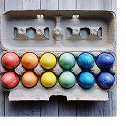 Queer Conceptions - rainbow eggs