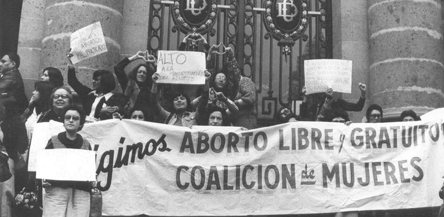Demonstration for the decriminalisation of abortion in the Chamber of Deputies, Mexico, 1977, Ana Victoria Jiménez.