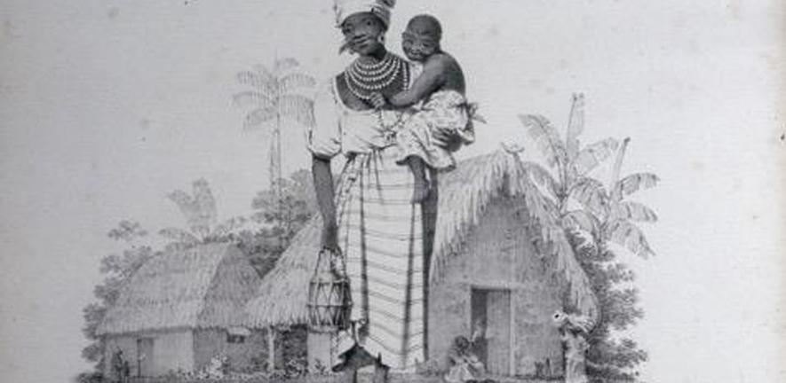 """Negro Mode of Nursing"", plate from Richard Bridgens, West India Scenery (1836)"